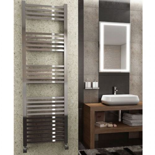 Kartell K Squared Straight Towel Rail - 600mm x 1600mm - Chrome